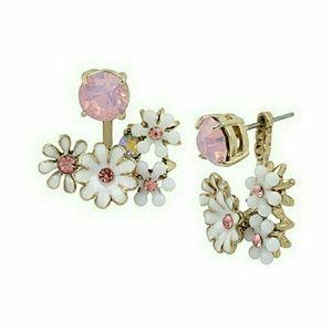 Betsey johnson dainty pink earrings NWT